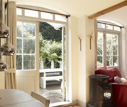 Timber door example going out to patio – timber door restoration, timber door repair