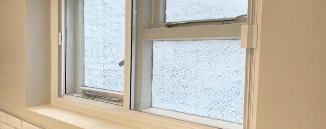 Example of secondary glazing in a casement window