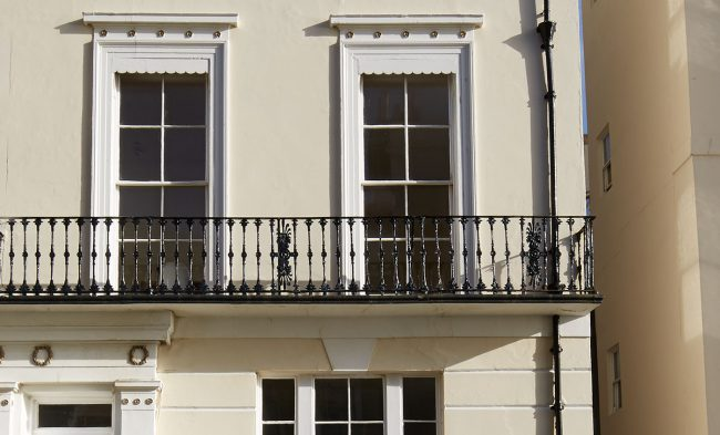 Georgian frontage with sash windows draught proofing sash windows, sash window installation
