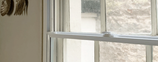 Example of secondary glazing in a sash window