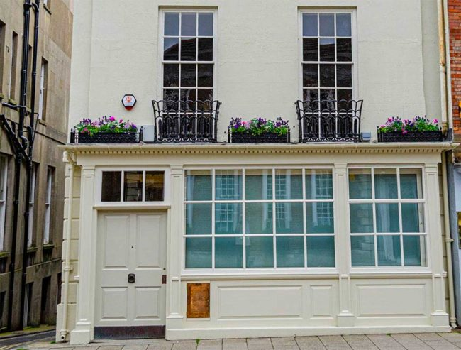 Commerical Sash window porject Lewes Old Post Office renovation